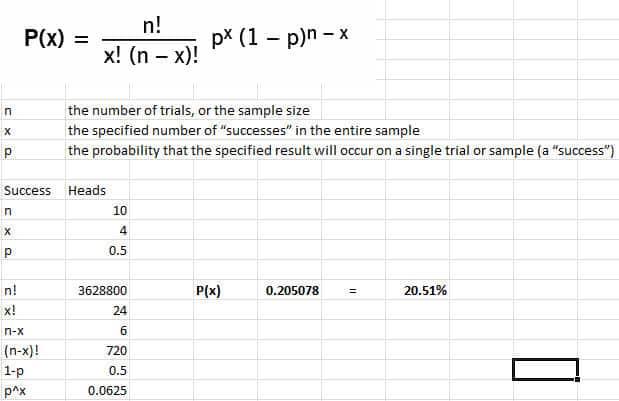 binomial successes